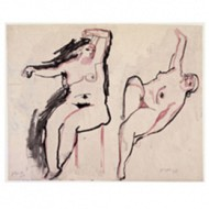 Henry Moore, 'Two Studies of a Female Nude' 1928