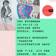 Outline Arts Fashion Illustration Bags