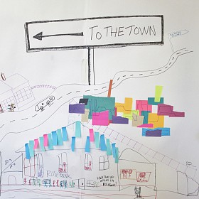 drawing the town in Nairn