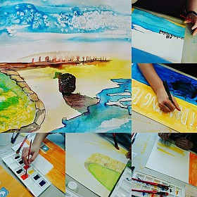 Arts Location: Rockingham Beach Photo: Claire Davenhall Media: Drawing Inks