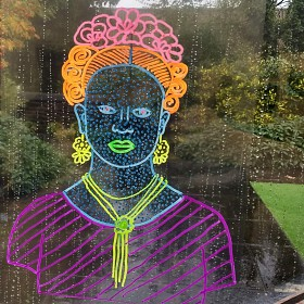 Colourful Artist Portraits on Plastic