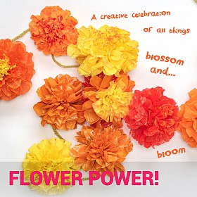 Flower Power! Make paper marigolds to draw at Rich Mix