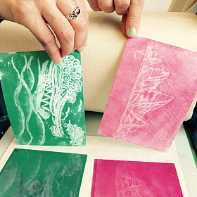 monoprints made on the press