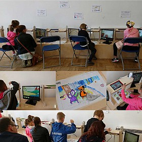 A very busy Story Sack Animation Workshop