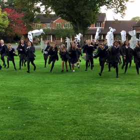 Creatures engineered by the pupils come to life on the lawn