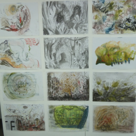 drawings from Big Draw at TAAG 2015