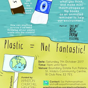 Plastic=Not Fantastic! flyer.
