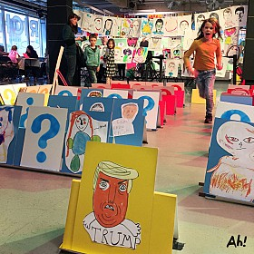 Art Hoppers & Rich Mix Giant Guess Who? Happy memories from #BigDraw18