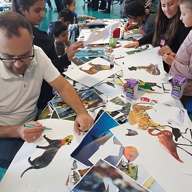 Collage your own creature - Family workshop