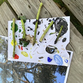 Eat your greens! Or paint with them! At Shrewsbury School