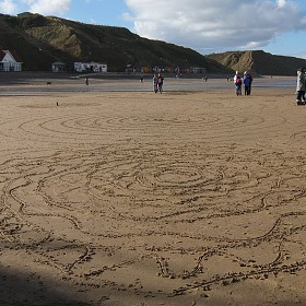 There was a lot of beach to draw on.
