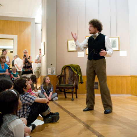 Listen to free storytelling session during our half-term family day
