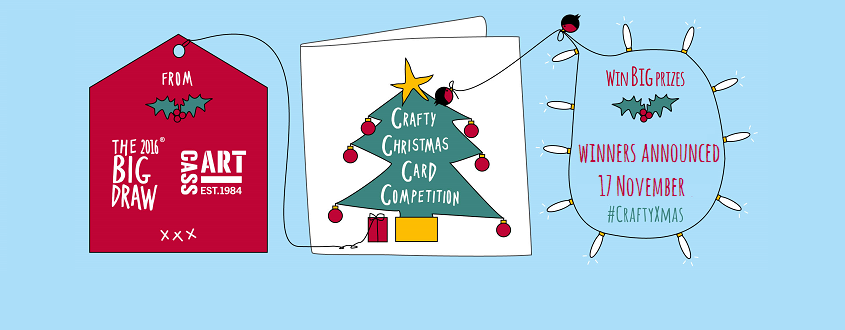The Big Draw Cass Art Present Crafty Christmas Card Competition